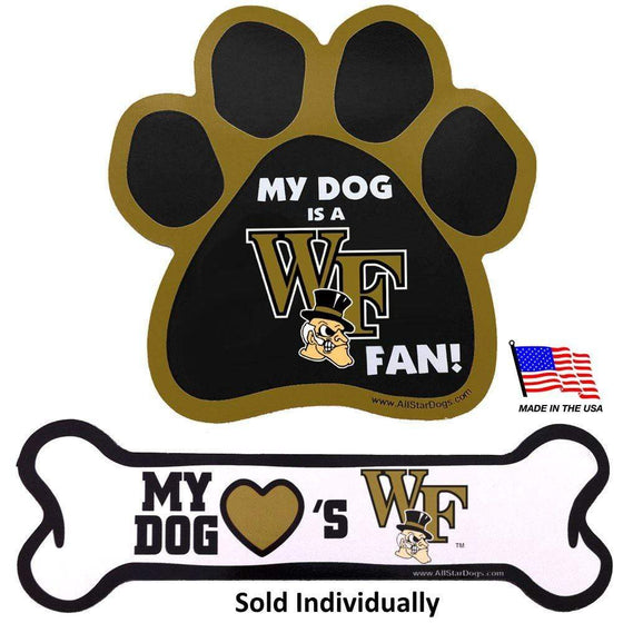 All Star Dogs Dog-products NCAA Bone Wake Forest Demon Deacons Car Magnets