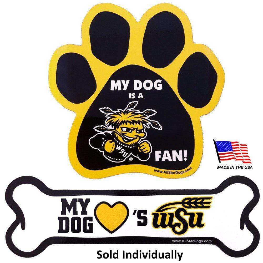 All Star Dogs Dog-products NCAA Bone Wichita State Shockers Car Magnets