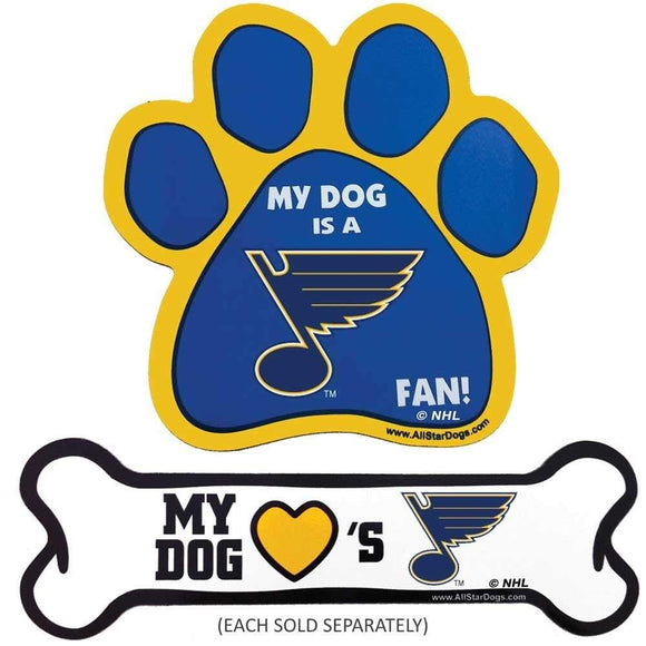 All Star Dogs Dog-products NHL Bone St. Louis Blues Car Magnets