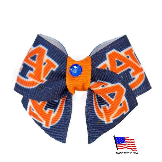 All Star Dogs Dog-products NCAA Auburn Tigers Pet Hair Bow