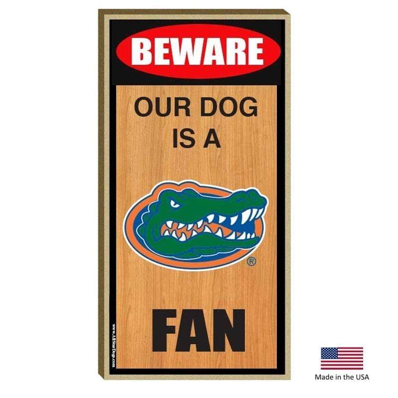 All Star Dogs Dog-products NCAA Florida Gators Wood Sign