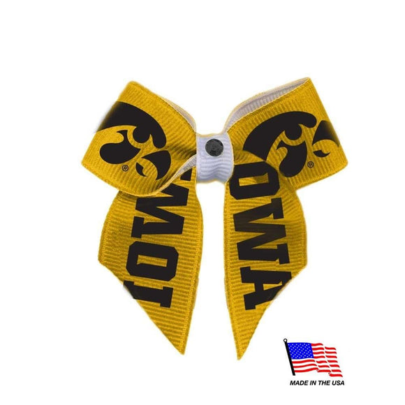 All Star Dogs Dog-products NCAA Iowa Hawkeyes Pet Hair Bow