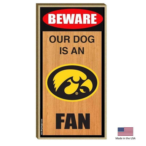 All Star Dogs Dog-products NCAA Iowa Hawkeyes Wood Sign