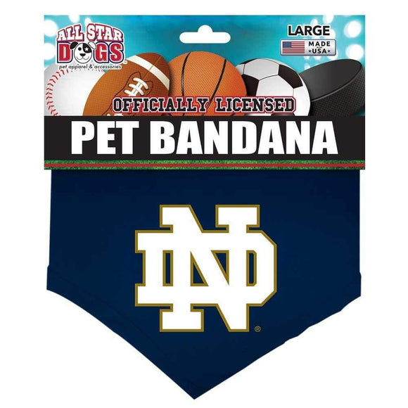 All Star Dogs Dog-products NCAA Small Notre Dame Fighting Irish Pet Bandana
