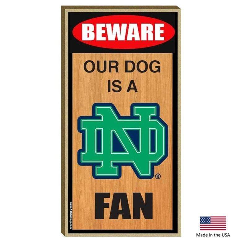 All Star Dogs Dog-products NCAA Notre Dame Fighting Irish Wood Sign
