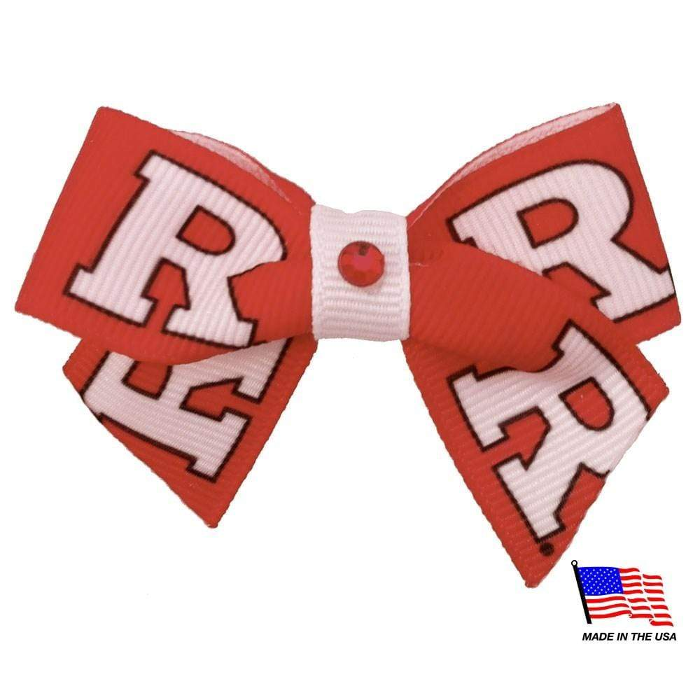 All Star Dogs Dog-products NCAA Rutgers Scarlet Knights Pet Hair Bow