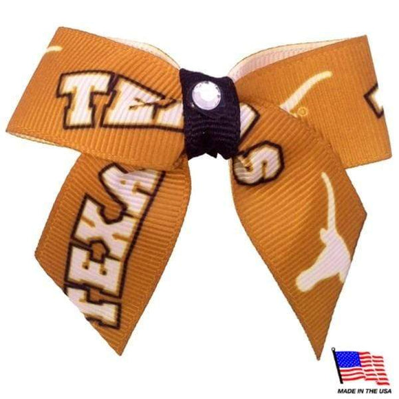 All Star Dogs Dog-products NCAA Texas Longhorns Pet Hair Bow