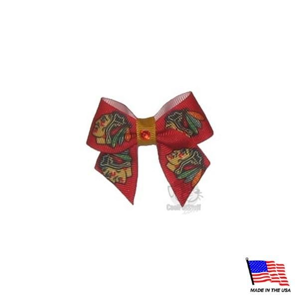 All Star Dogs Dog-products NHL Chicago Blackhawks Pet Hair Bow