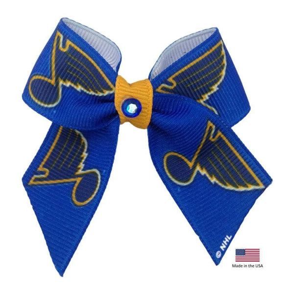 All Star Dogs Dog-products NHL St. Louis Blues Pet Hair Bow