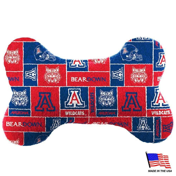 All Star Dogs Dog-products NCAA Large Arizona Wildcats Plush Bone Toy