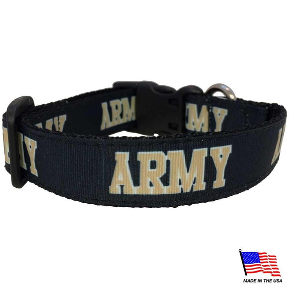 All Star Dogs Dog-products NCAA Large Army Black Knights Pet Collar