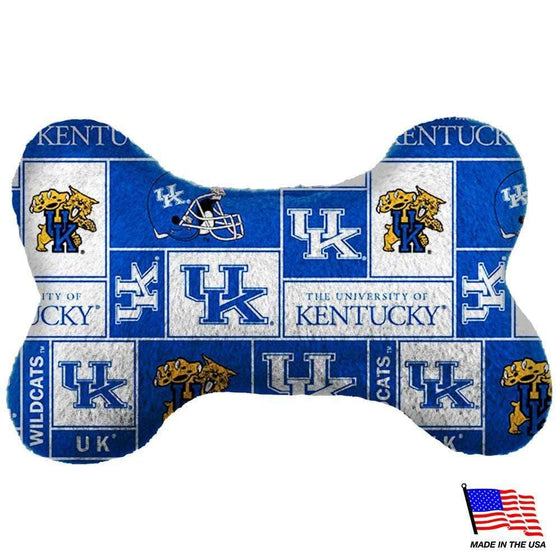 All Star Dogs Dog-products NCAA Large Kentucky Wildcats Plush Bone Toy