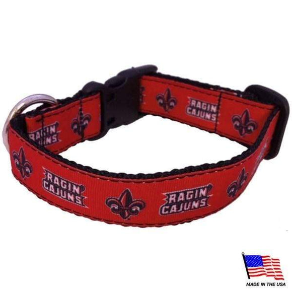 All Star Dogs Dog-products NCAA Large Louisiana Ragin' Cajuns Pet Collar