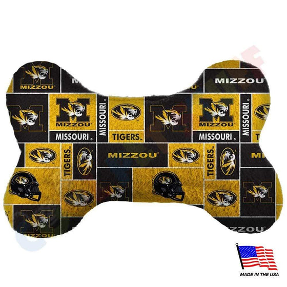All Star Dogs Dog-products NCAA Large Missouri Tigers Plush Bone Toy