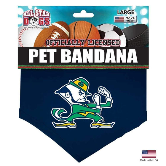 All Star Dogs Dog-products NCAA Large Notre Dame Leprechaun Pet Bandana
