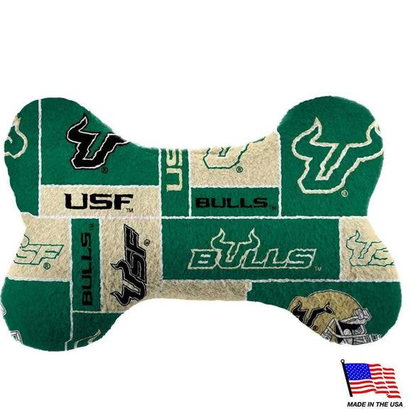 All Star Dogs Dog-products NCAA Large South Florida Bulls Plush Bone Toy
