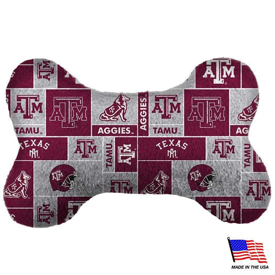 All Star Dogs Dog-products NCAA Large Texas A&m Aggies Plush Bone Toy