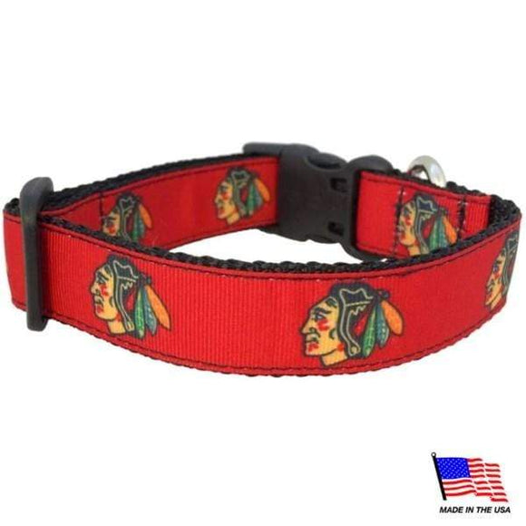 All Star Dogs Dog-products NHL Large Chicago Blackhawks Premium Pet Collar
