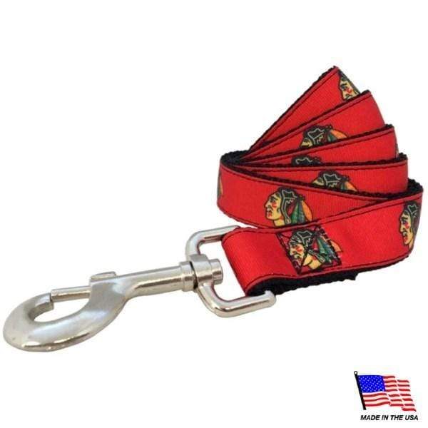 All Star Dogs Dog-products NHL Large Chicago Blackhawks Premium Pet Leash
