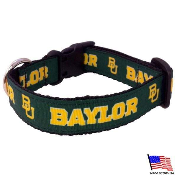 All Star Dogs Dog-products NCAA Medium Baylor Bears Pet Collar