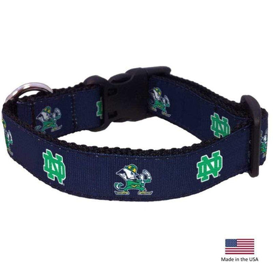 All Star Dogs Dog-products NCAA Medium Notre Dame Leprechaun Pet Collar