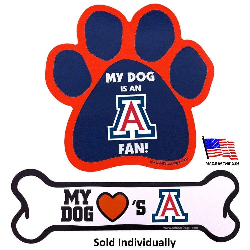 All Star Dogs Dog-products NCAA Paw Arizona Wildcats Car Magnets