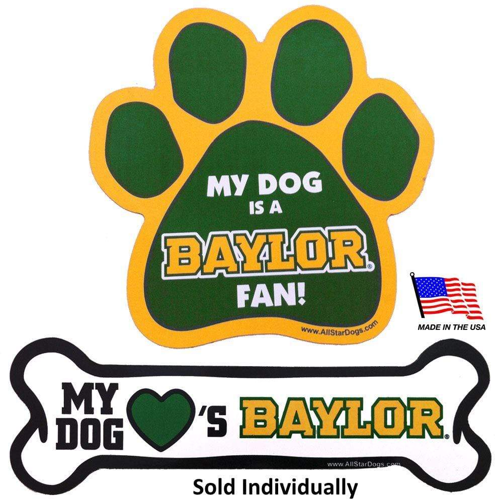 All Star Dogs Dog-products NCAA Paw Baylor Bears Car Magnets