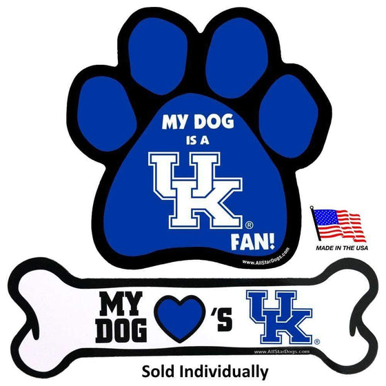All Star Dogs Dog-products NCAA Paw Kentucky Wildcats Car Magnets
