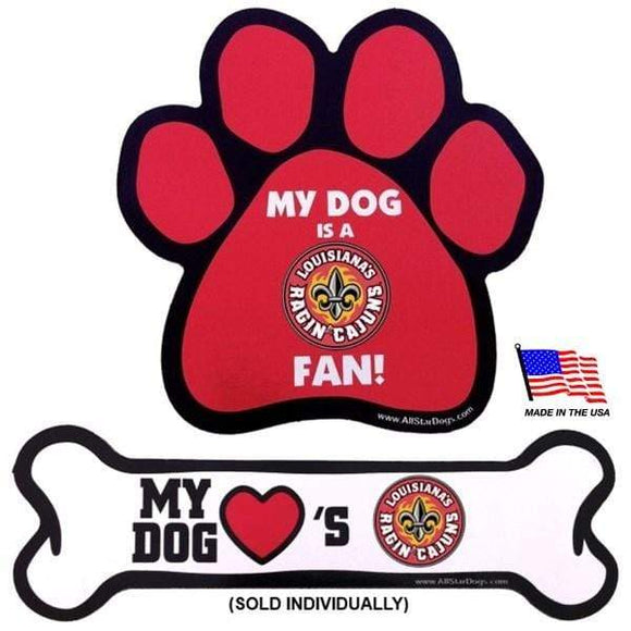 All Star Dogs Dog-products NCAA Paw Louisiana Ragin' Cajuns Car Magnets