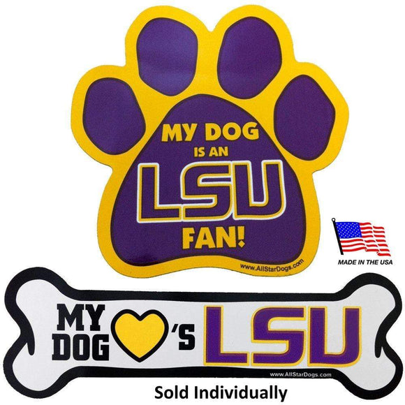 All Star Dogs Dog-products NCAA Paw Lsu Tigers Car Magnets