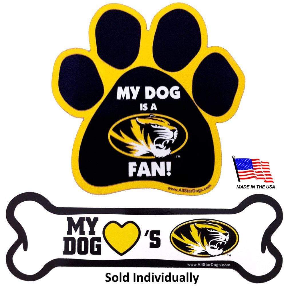 All Star Dogs Dog-products NCAA Paw Missouri Tigers Car Magnets