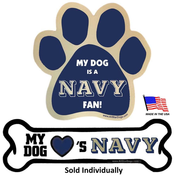 All Star Dogs Dog-products NCAA Paw Navy Midshipmen Car Magnets