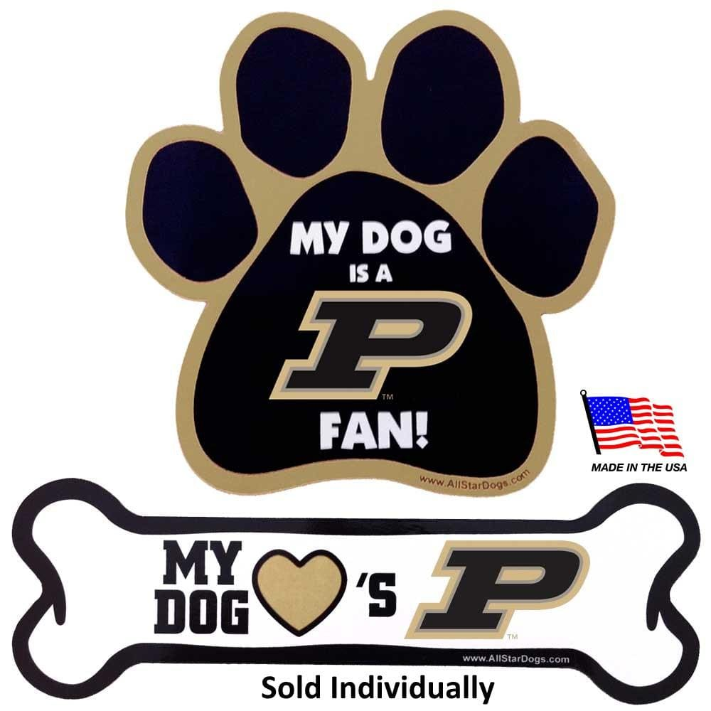 All Star Dogs Dog-products NCAA Paw Purdue Boilermakers Car Magnets
