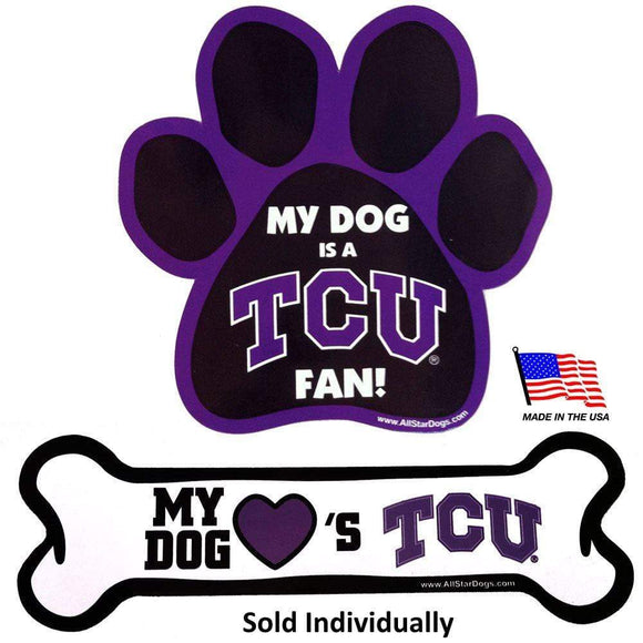 All Star Dogs Dog-products NCAA Paw Tcu Horned Frogs Car Magnets
