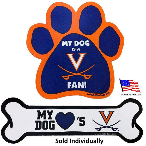 All Star Dogs Dog-products NCAA Paw Virginia Cavaliers Car Magnets