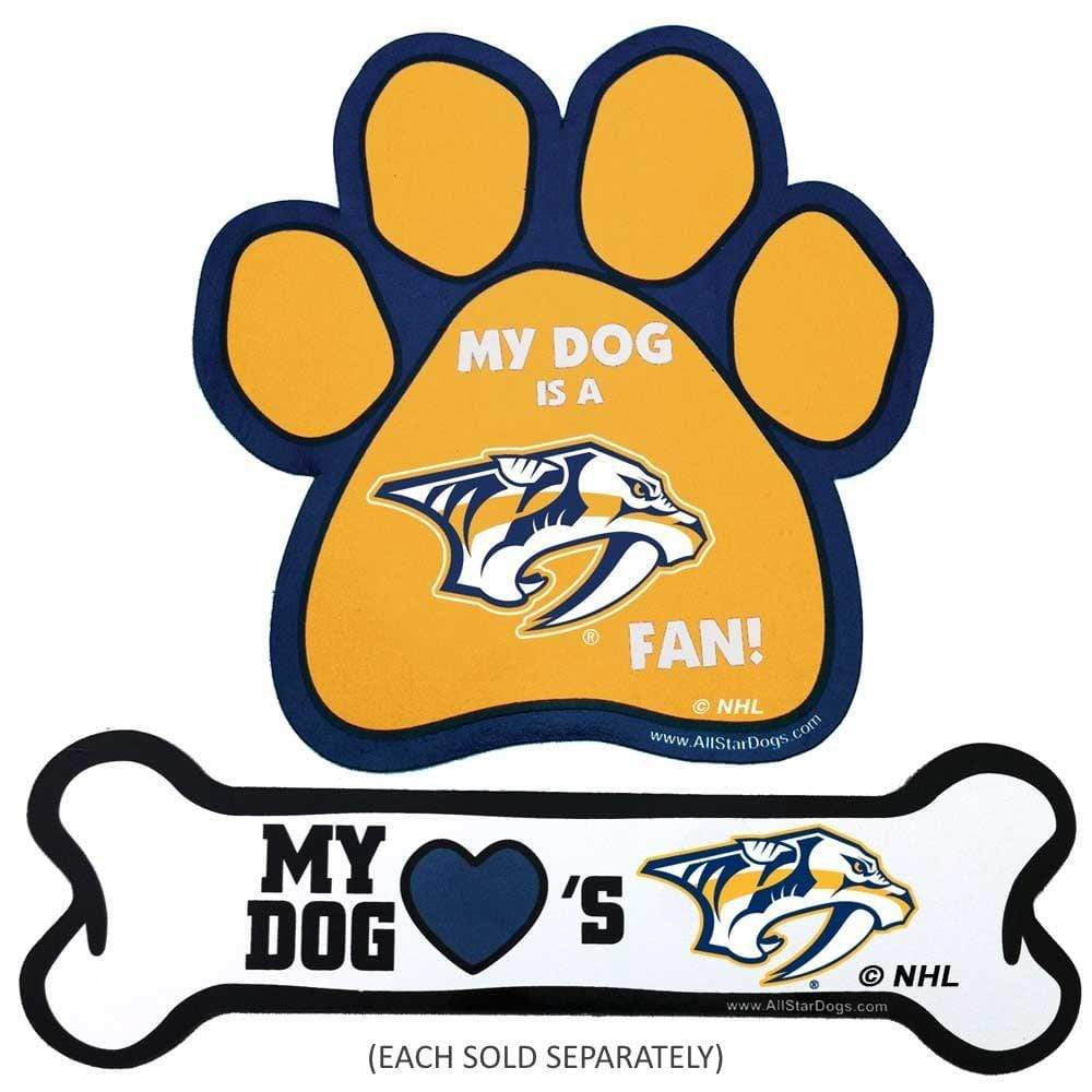 All Star Dogs Dog-products NHL Paw Nashville Predators Car Magnets