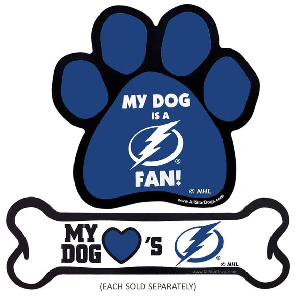 All Star Dogs Dog-products NHL Paw Tampa Bay Lightning Car Magnets