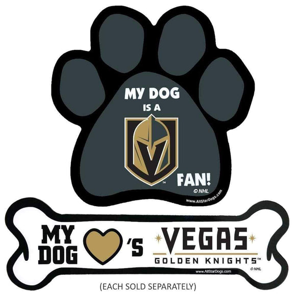 All Star Dogs Dog-products NHL Paw Vegas Golden Knights Car Magnets