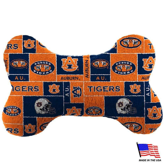 All Star Dogs Dog-products NCAA Small Auburn Tigers Plush Bone Toy