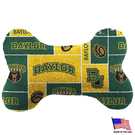 All Star Dogs Dog-products NCAA Small Baylor Bears Plush Bone Toy
