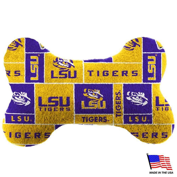 All Star Dogs Dog-products NCAA Small Lsu Tigers Plush Bone Toy