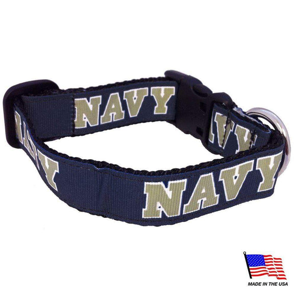All Star Dogs Dog-products NCAA Small Navy Midshipmen Pet Collar