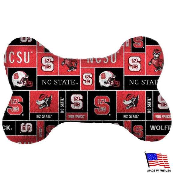 All Star Dogs Dog-products NCAA Small Nc State Wolfpack Plush Bone Toy