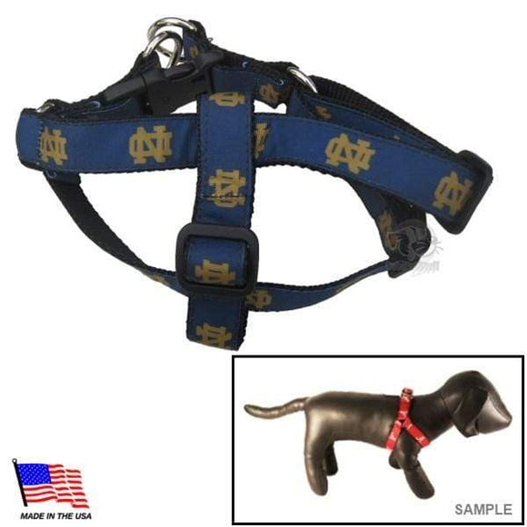 All Star Dogs Dog-products NCAA Small Notre Dame Fighting Irish Pet Harness