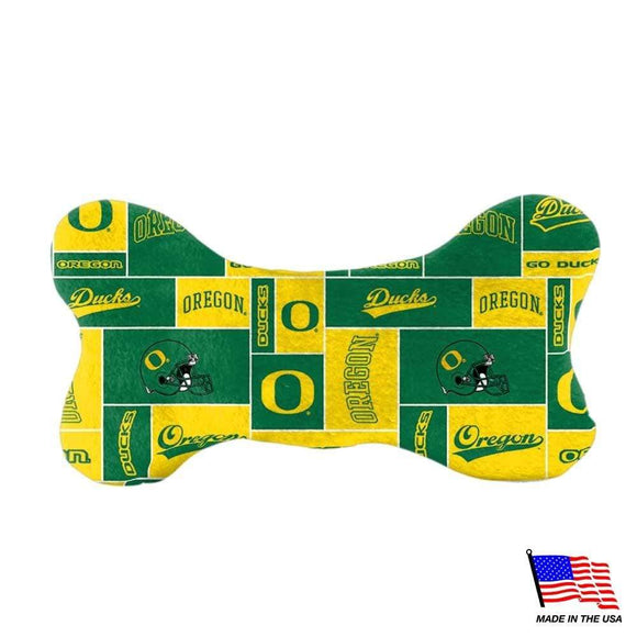 All Star Dogs Dog-products NCAA Small Oregon Ducks Plush Bone Toy