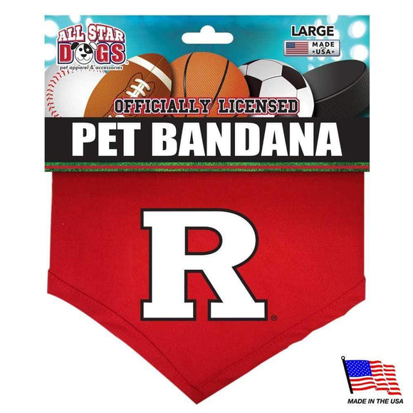 All Star Dogs Dog-products NCAA Small Rutgers Scarlet Knights Pet Bandana