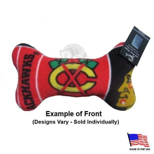 All Star Dogs Dog-products NHL Small Chicago Blackhawks Plush Bone Toy