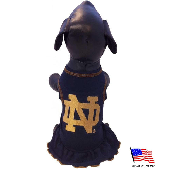 All Star Dogs Dog-products NCAA XL Notre Dame Fighting Irish Pet Cheerleader Dress