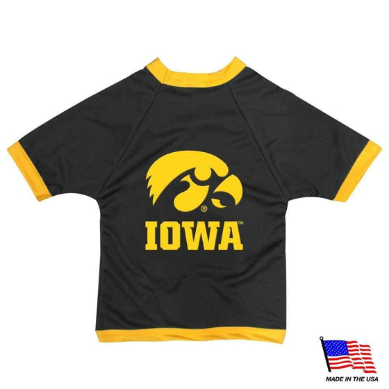 All Star Dogs Dog-products NCAA XS Iowa Hawkeyes Athletic Mesh Pet Jersey