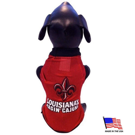 All Star Dogs Dog-products NCAA XXL Louisiana Ragin' Cajuns Athletic Mesh Pet Jersey